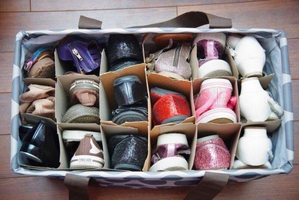 Обувь по отсекам