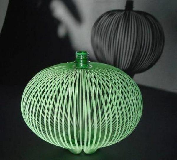 Японский светильник из бутылки