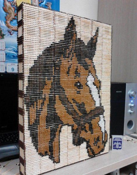 Объёмная картина лошади