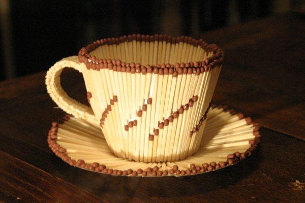 Чайная пара из спичек