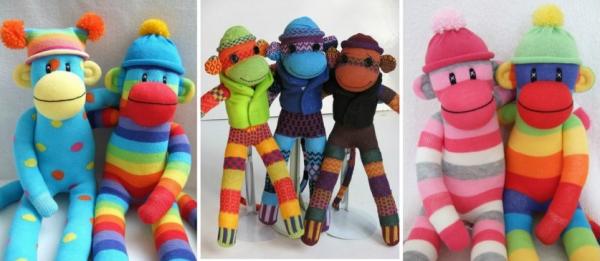 Весёлые обезьянки из носков