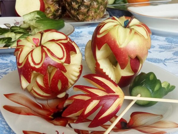 Карвинг на яблоках