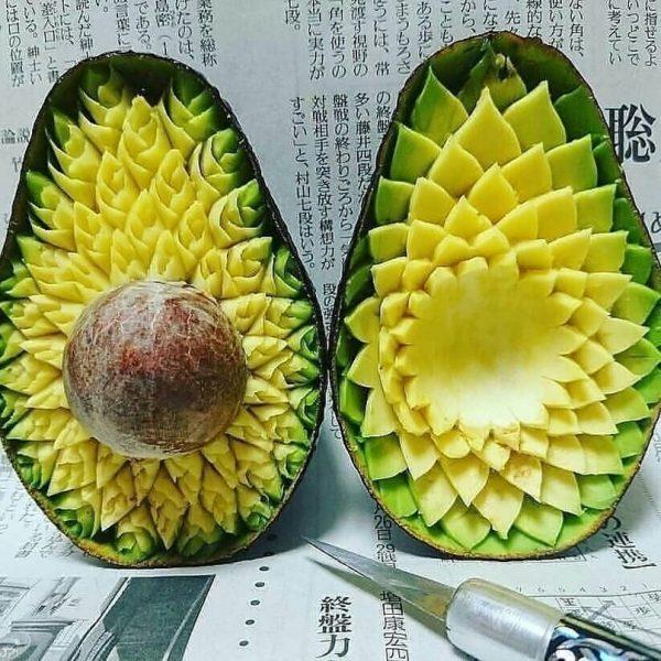 Узоры на авокадо