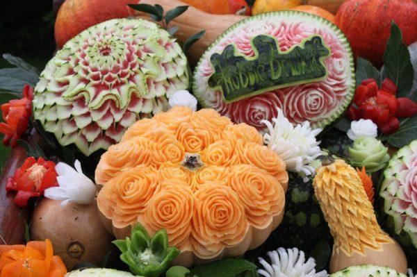 Карвинг на больших овощах и фруктах