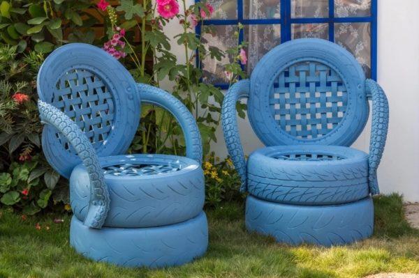 Кресла синего цвета