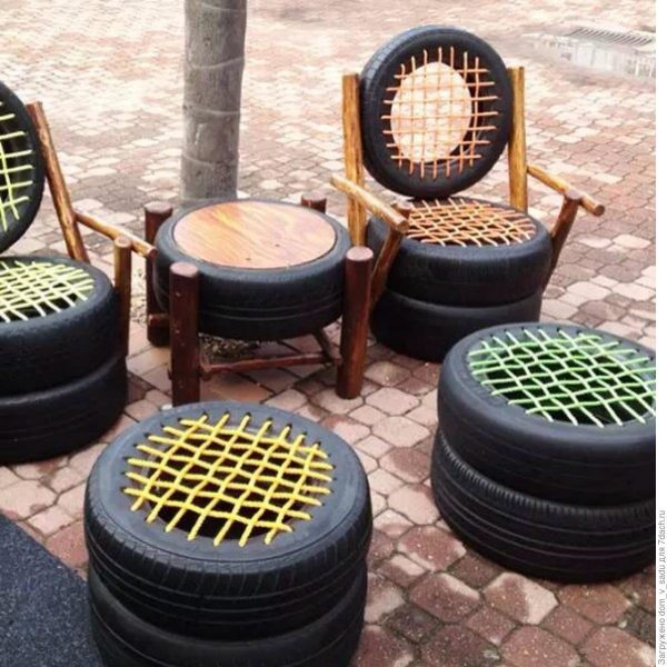 Мебель из покрышек