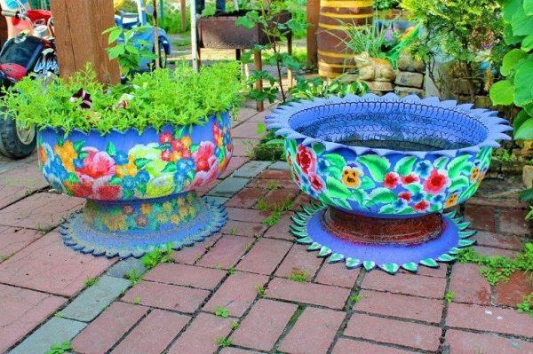 Напольные вазы для дачи