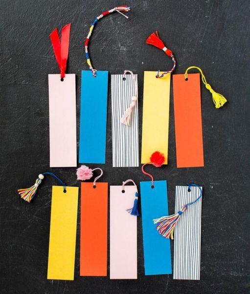 Простые закладки со шнурком