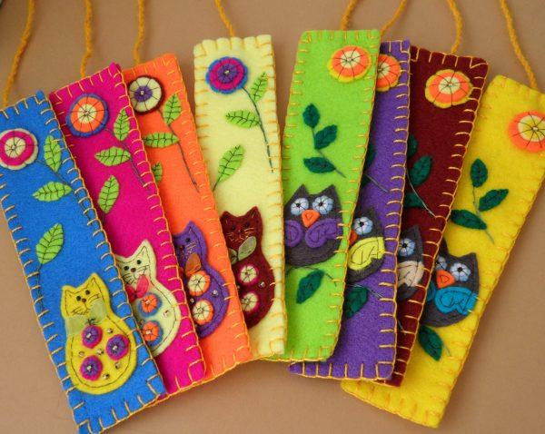 Яркие закладки из фетра
