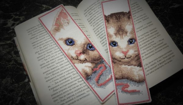 Закладки с котиками
