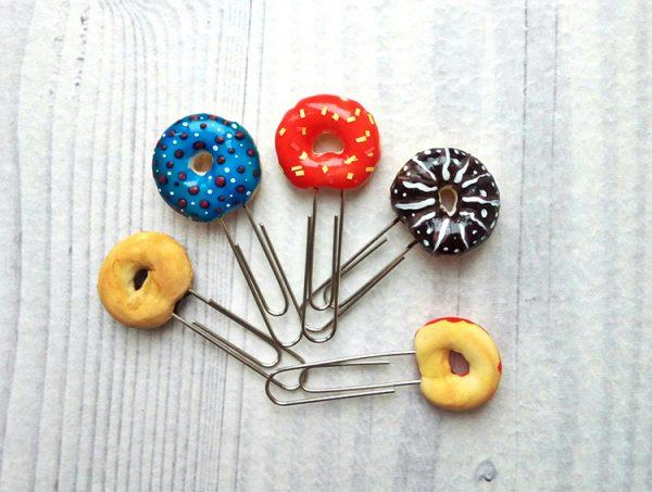 Скрепка с пончиками