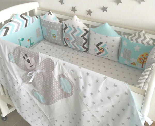 Домики из ткани пастельных оттенков