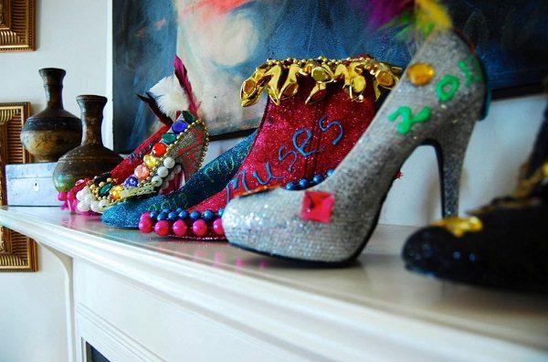 Декор туфлями