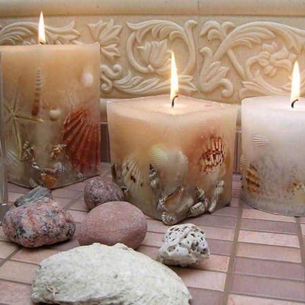 Морские свечи с ракушками