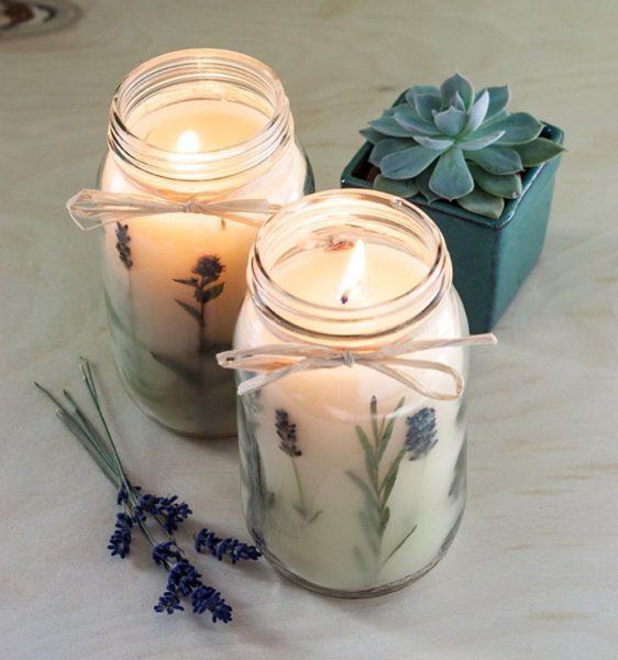 Свечи с лавандой
