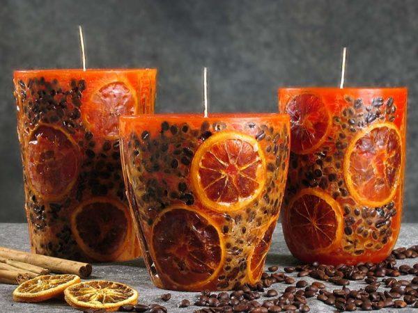 Цитрусовая свеча