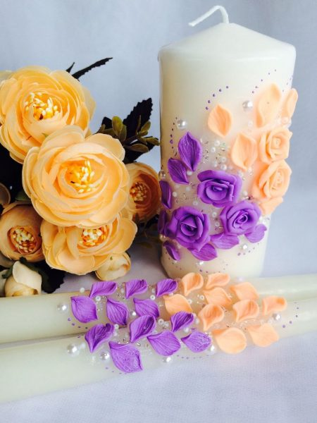 Оранжево-фиолетовый декор