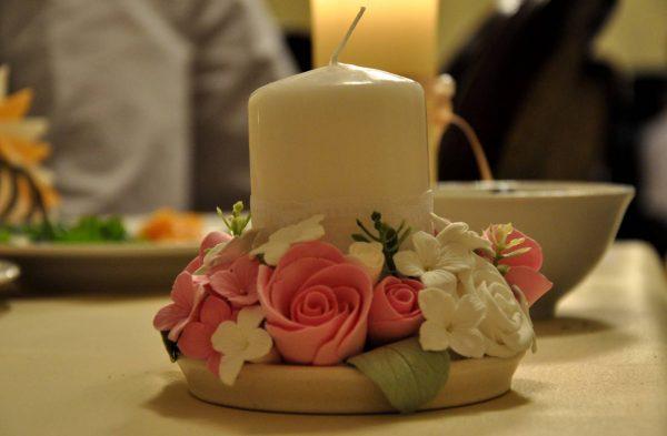 Красивое основание свечи