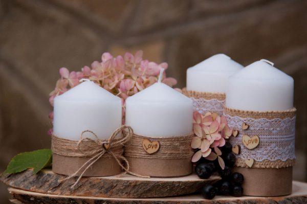 Украшение свечей