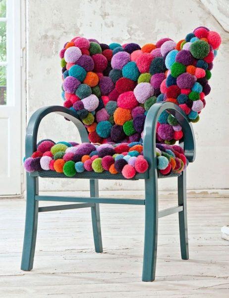 Накидка для стула из мягких шариков