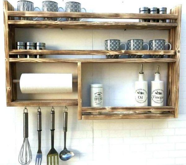 Деревянный органайзер для кухонной утвари