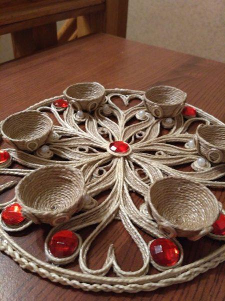 Тарелка для яиц из джута