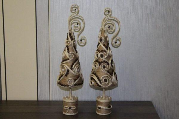 Ёлочки из джута
