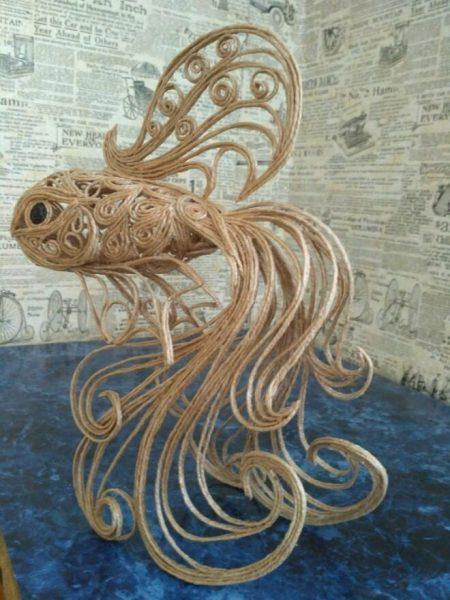 Рыбка из джута