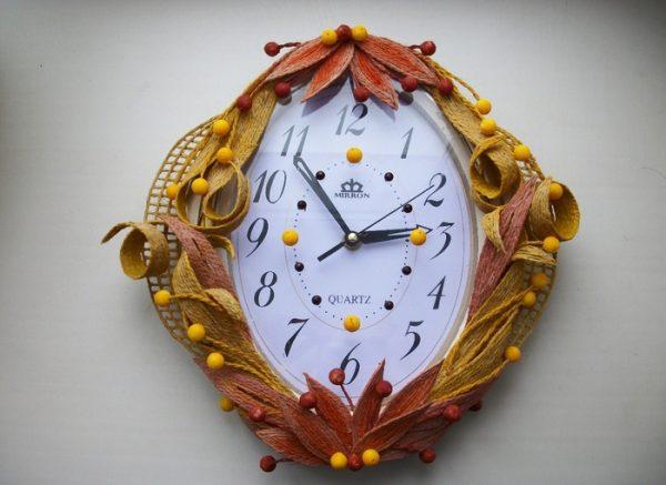 Часы из джута