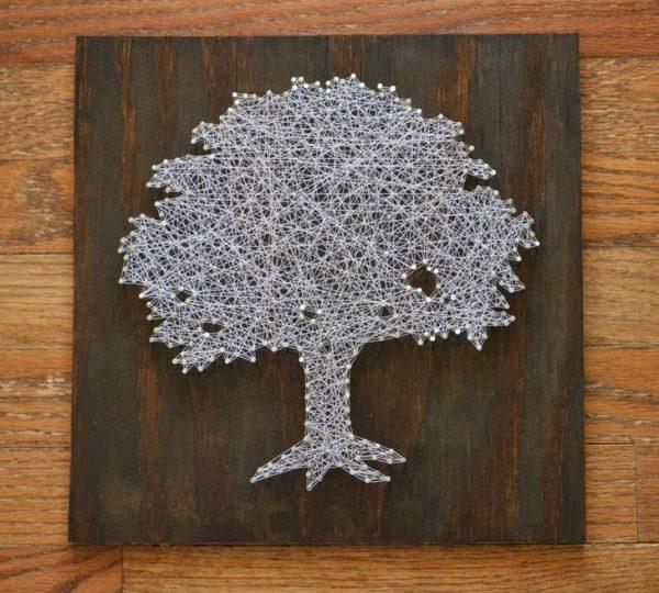 Дерево в технике стринг-арт