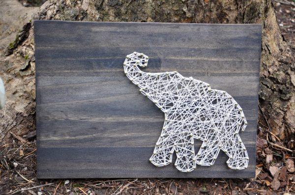 Слоник в технике стринг-арт