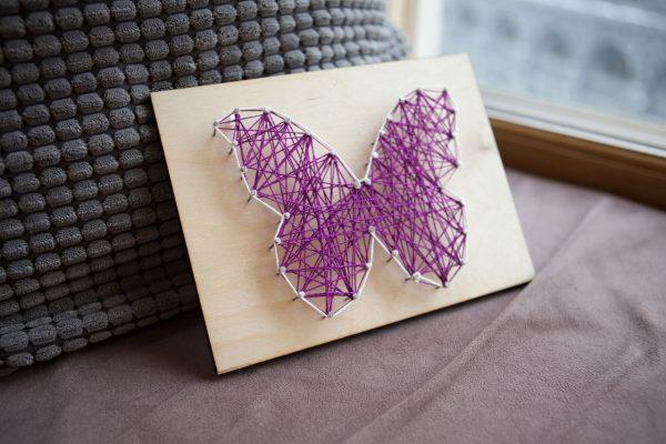 Бабочка в технике стринг-арт