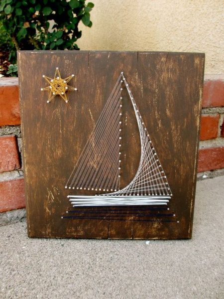 Кораблик из ниток