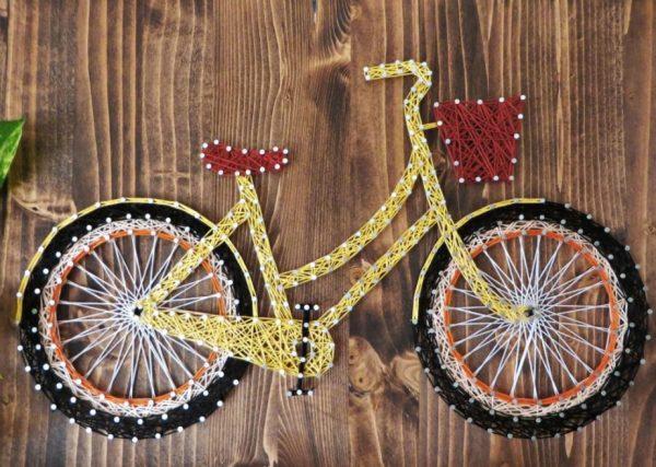 Велосипед из ниток