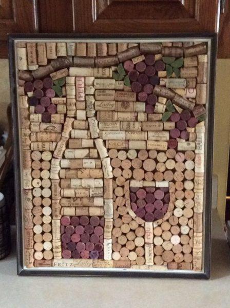 Картина из винных пробок