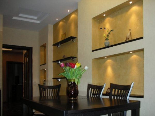 Декоративные углубления в стене
