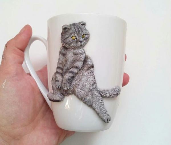 Милый котик на кружке