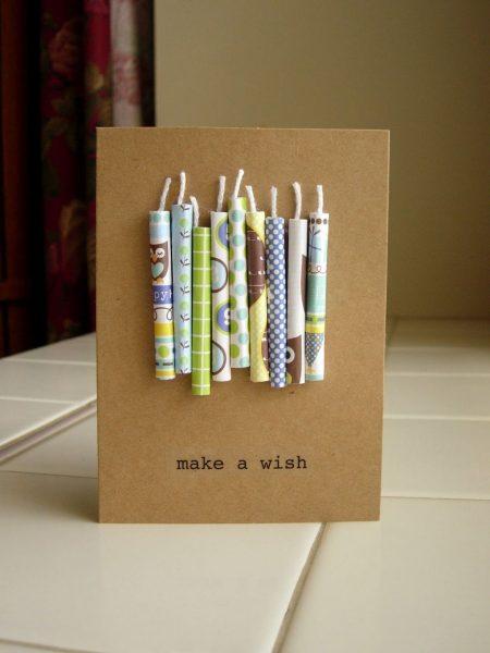 Свечи на открытке