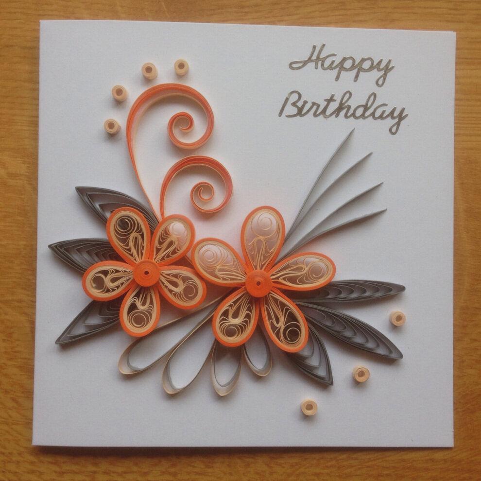 Днем рождения, сделать открытку квиллинг