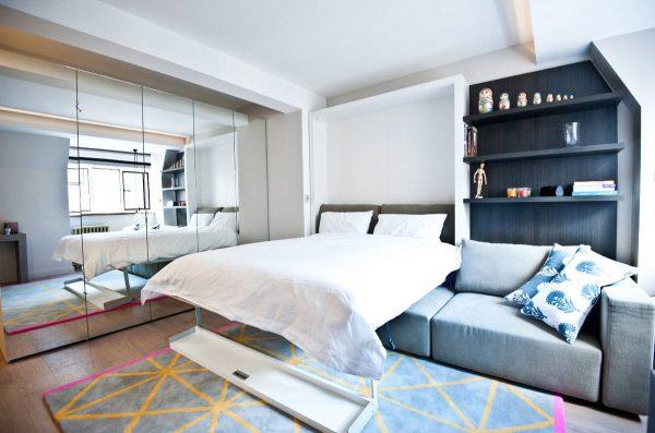 Кровать над диваном
