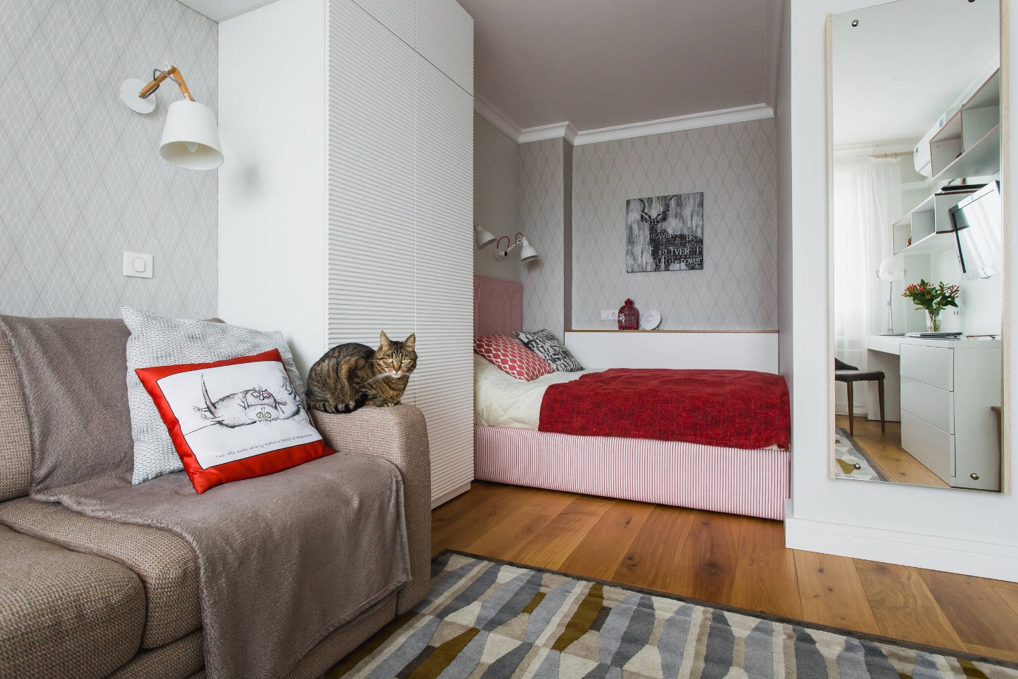 каждый вечер фото однокомнатных квартир с местом для кровати каталоге фото обоев