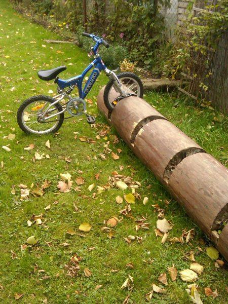 Парковка для велосипеда из дерева