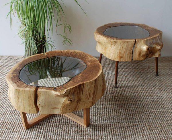 Журнальные столики из дерева