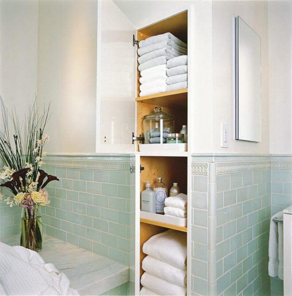 Ниша в стене для полотенец
