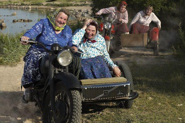 Бабушки на мотоциклах