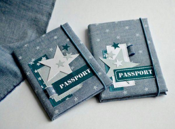 Обложка на паспорт со звёздами