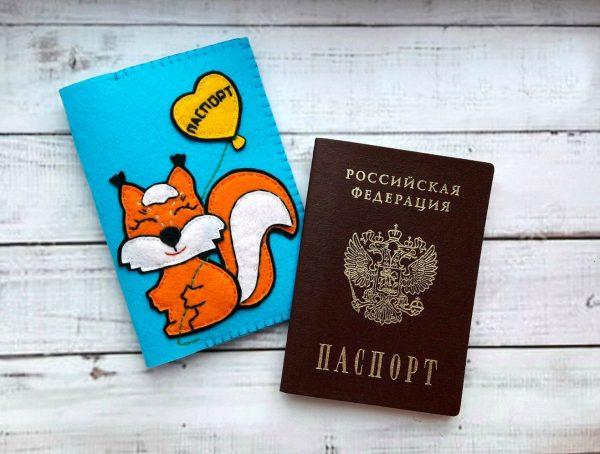 обложка для паспорта из фетра