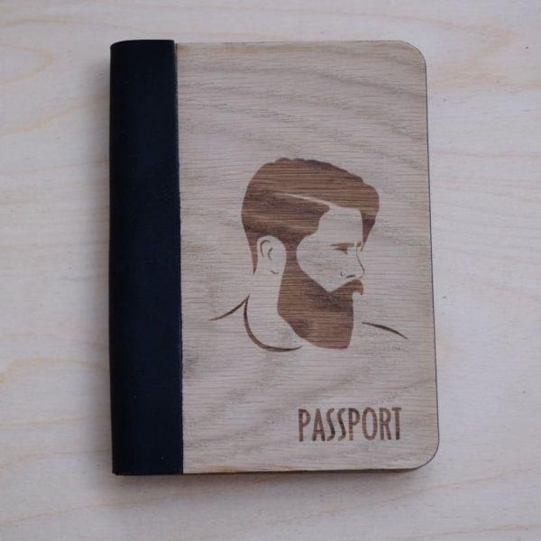 Обложка на паспорт из дерева