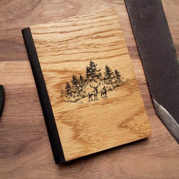 Обложка на паспорт из дерева с рисунком