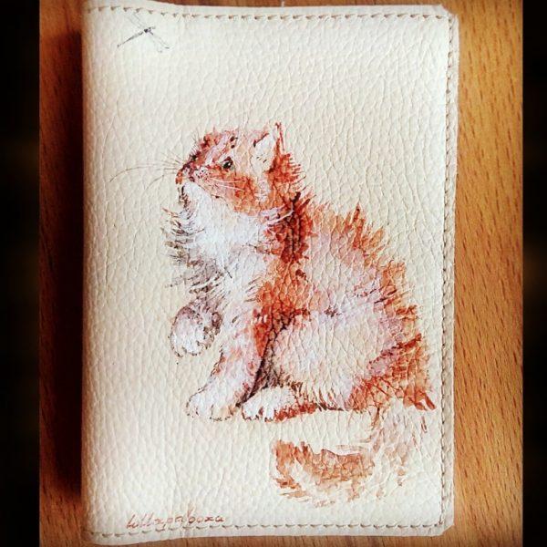 обложка для паспорта с рисунком